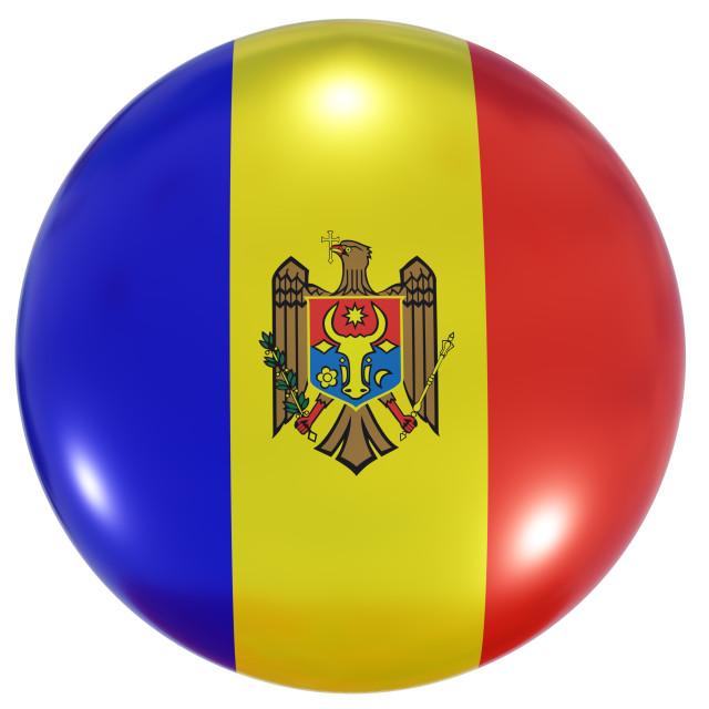 """Moldova national flag button"" stock image"