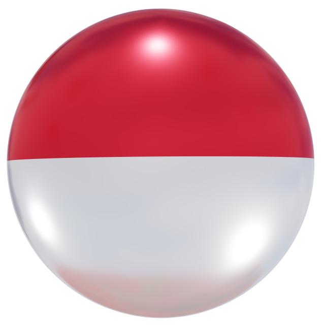 """Monaco national flag button"" stock image"