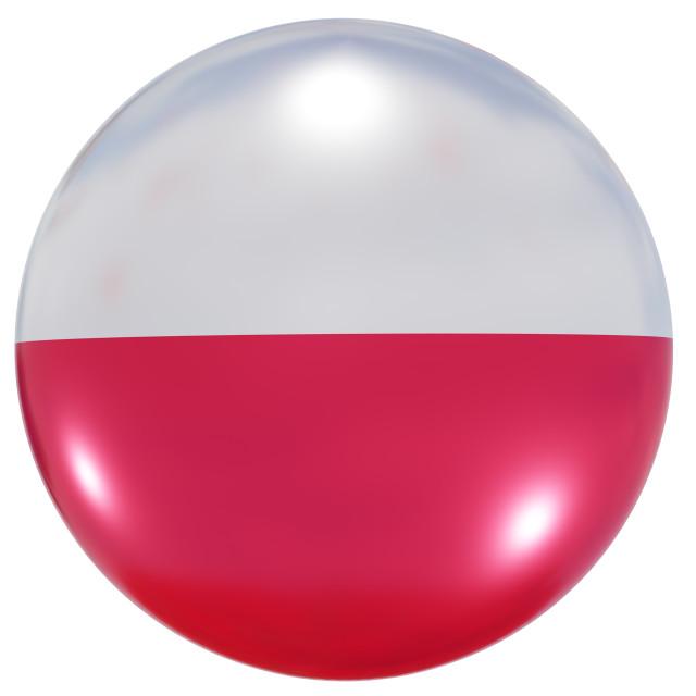 """Poland national flag button"" stock image"