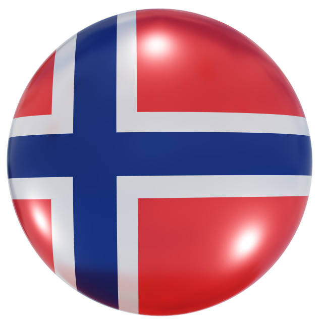 """""""Norway national flag button"""" stock image"""