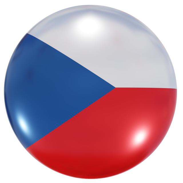 """Czech Republic national flag button"" stock image"
