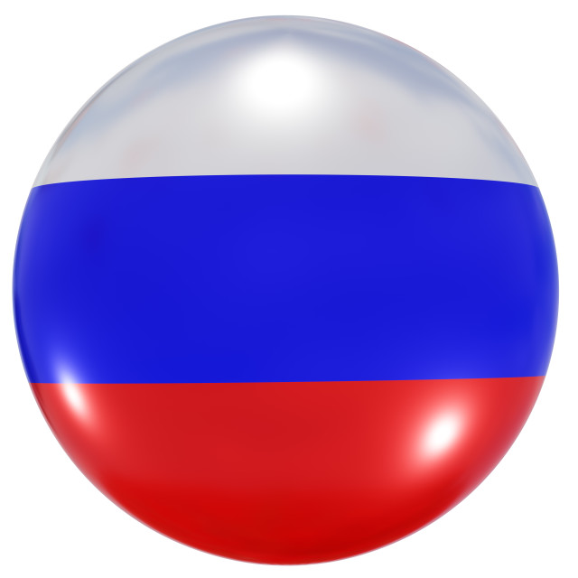 """""""Russian Federation national flag button"""" stock image"""