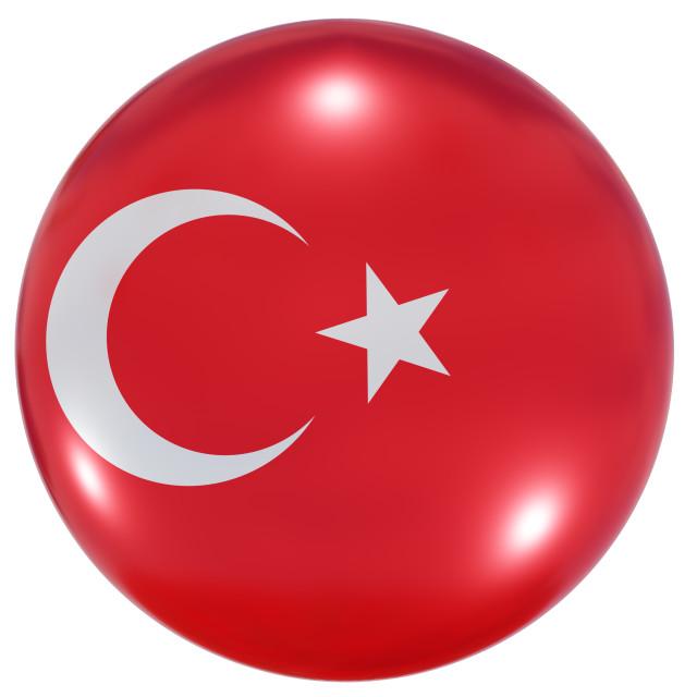 """Turkey national flag button"" stock image"