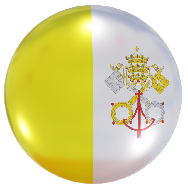"""""""Vatican national flag button"""" stock image"""