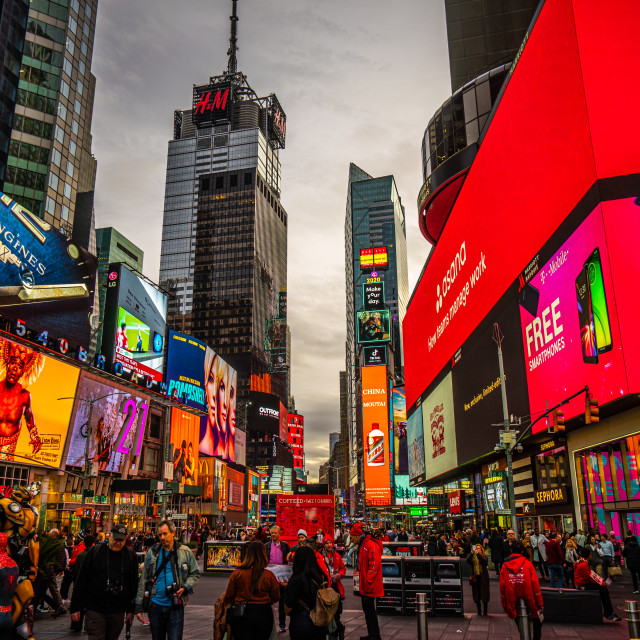 """""""Times Square Lights"""" stock image"""