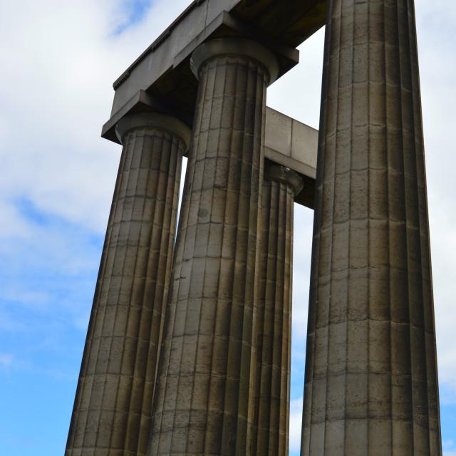 """The Acropolis - Calton Hill, Edinburgh"" stock image"