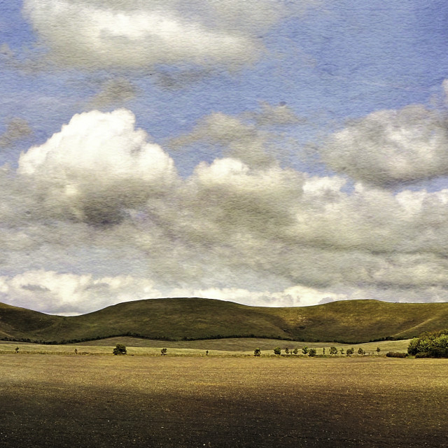 """""""The Pewsey Down Hills #5"""" stock image"""