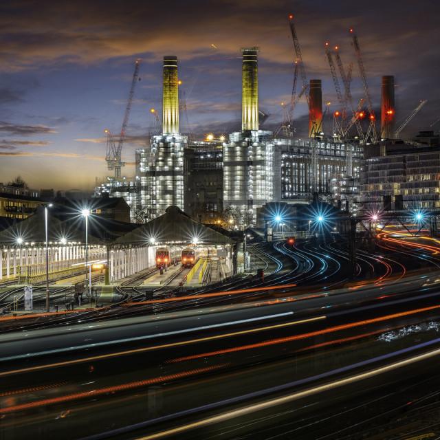 """Grosvenor Road Depot, Edbury Bridge,Belgravia, London"" stock image"