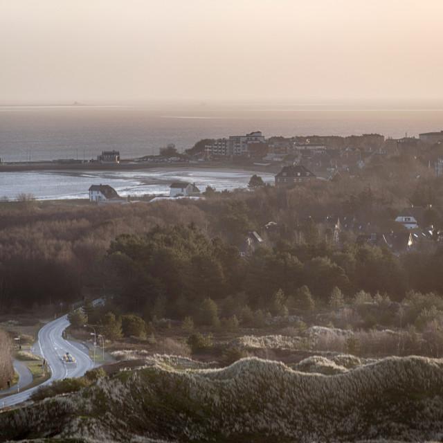 """Landscape on the North Frisian Island Amrum in Germany"" stock image"