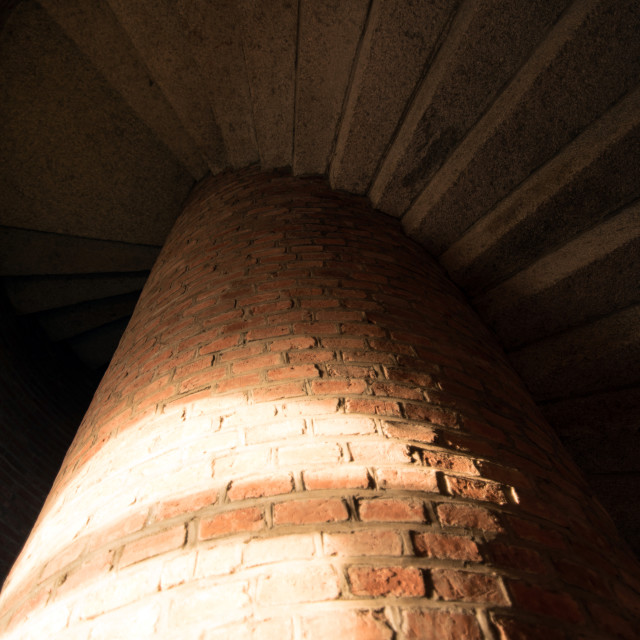 """""""Winding stairs of a lighthouse"""" stock image"""