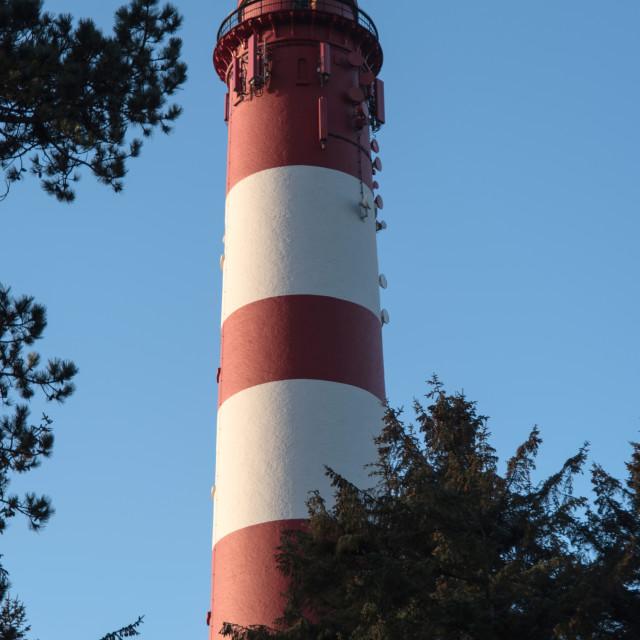 """Lighthouse on the North Frisian Island Amrum in Germany"" stock image"