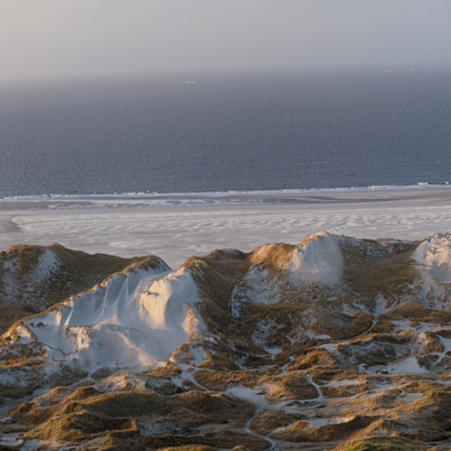 """""""Panoramic View on the North Frisian Island Amrum in Germany"""" stock image"""