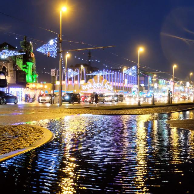 """Blackpool at Night"" stock image"
