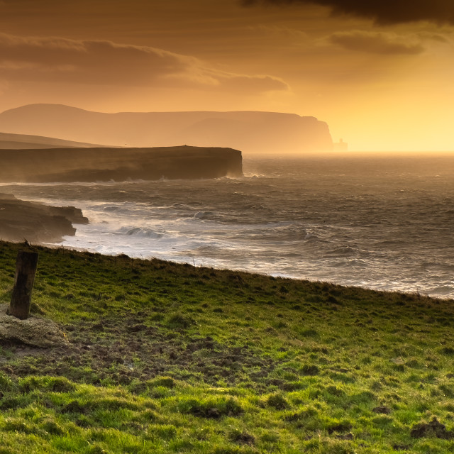 """""""Old Man of Hoy from Vestrafiold"""" stock image"""