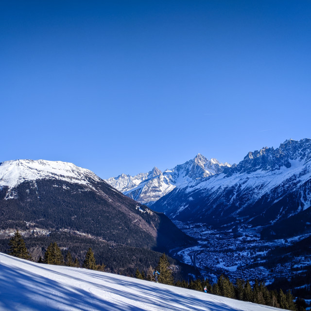 """The Chamonix Valley"" stock image"