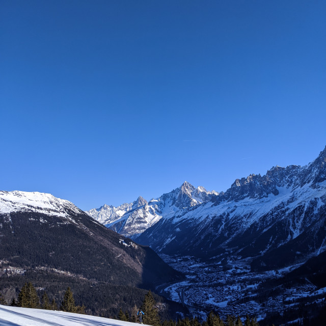 """Chamonix Valley in Winter"" stock image"