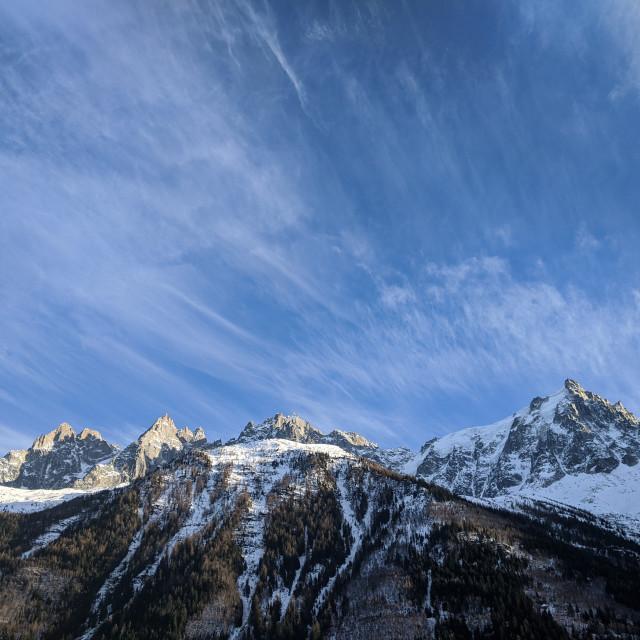 """Mont-Blanc Massif"" stock image"
