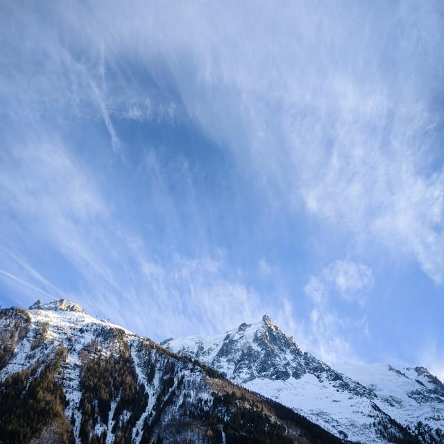 """Aiguille du Midi"" stock image"