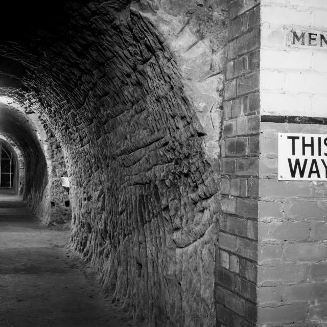 """Underground Air Raid Tunnels"" stock image"