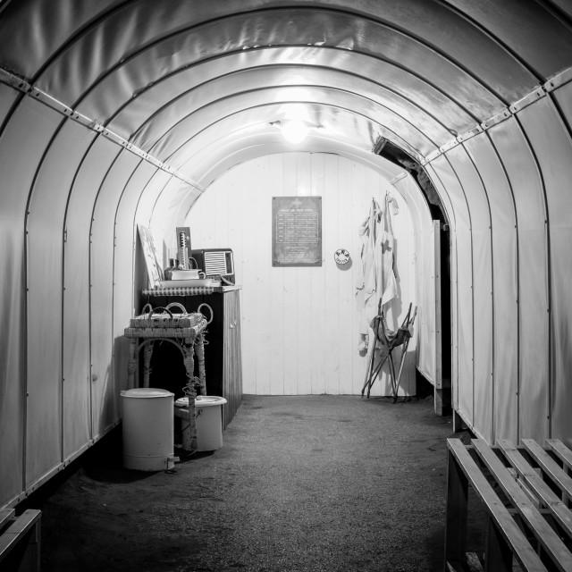"""""""Abandoned WW2 Underground Medic Station"""" stock image"""