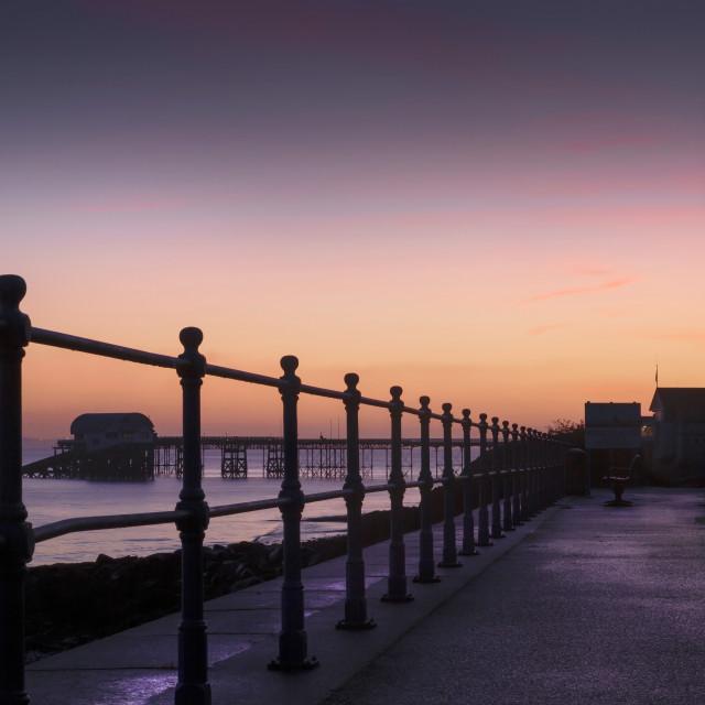 """""""Dawn at Mumbles pier"""" stock image"""