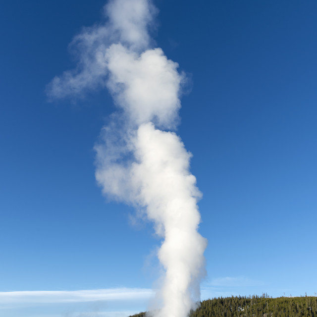 """Old Faithful geyser erupting"" stock image"