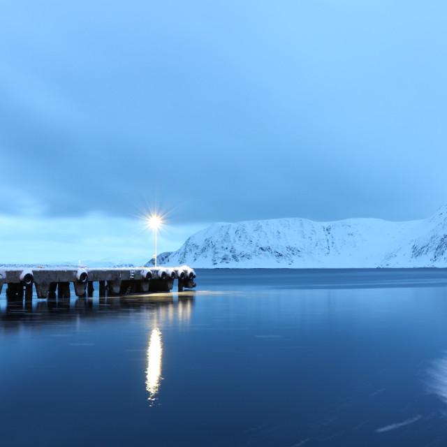 """Noon in Norway"" stock image"