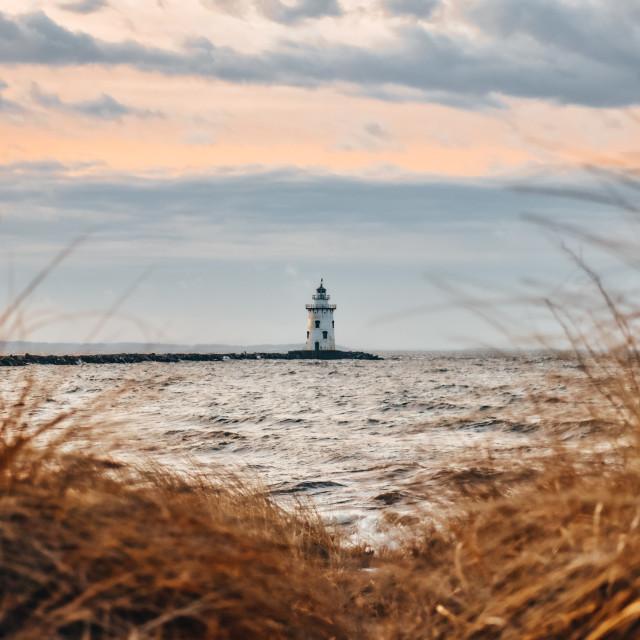 """""""New England lighthouse"""" stock image"""