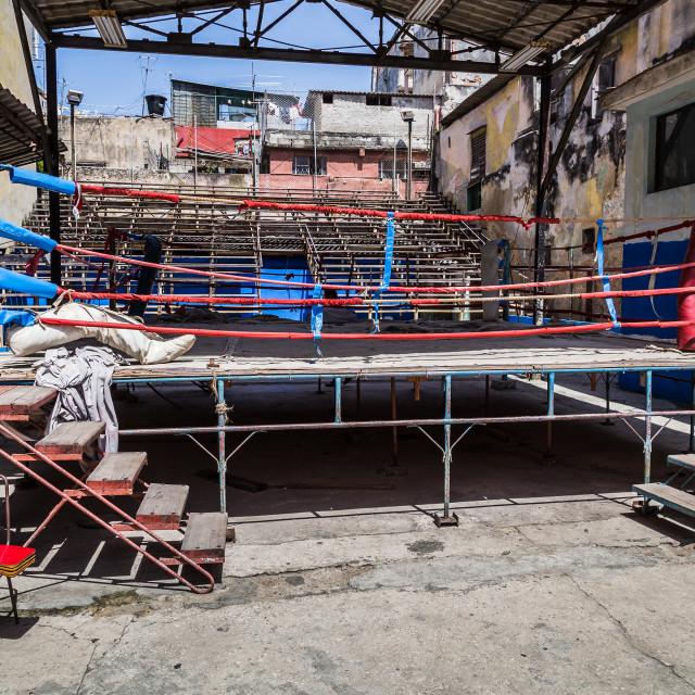 """Rafael Trejo Boxing Gym"" stock image"