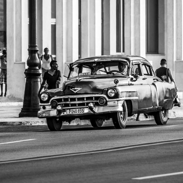 """""""Old timer on the Malecon"""" stock image"""