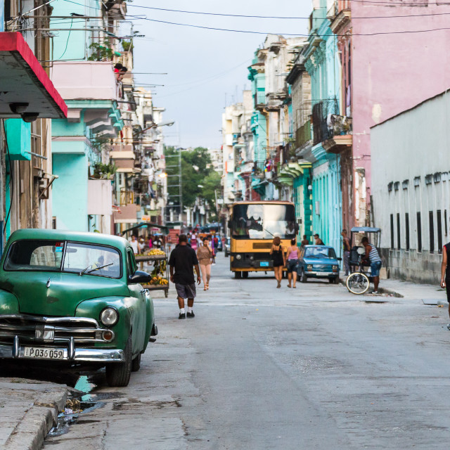 """Back streets of Centro Havana"" stock image"