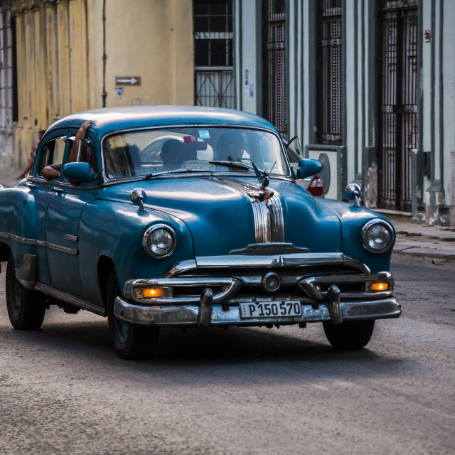 """""""Busy taxi in Havana"""" stock image"""