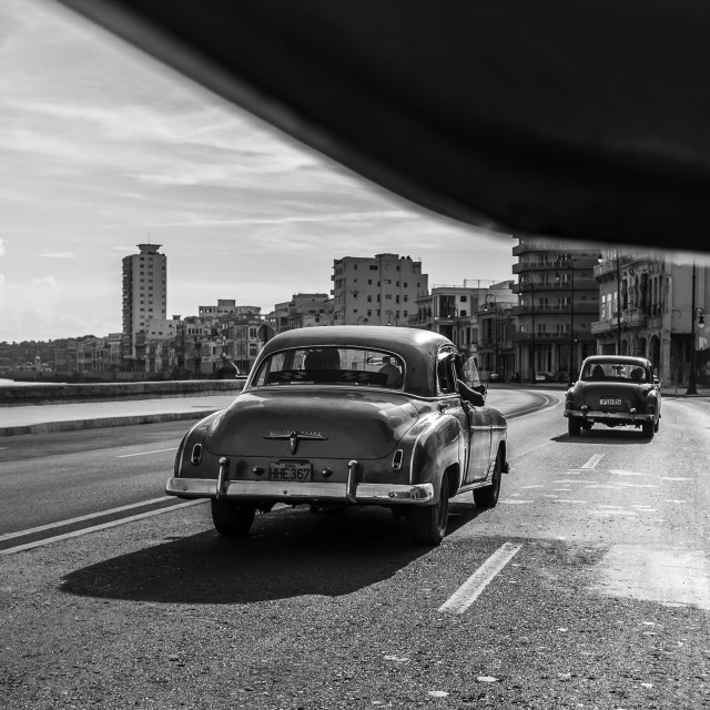 """""""Travelling down the Malecon"""" stock image"""