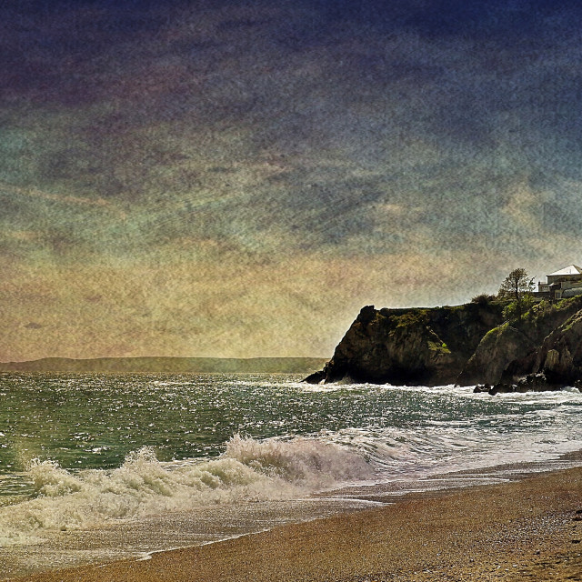 """""""Clifftop House #2"""" stock image"""