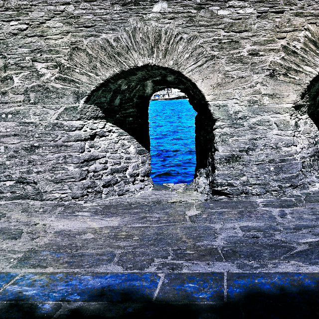 """""""Medieval Arched Windows"""" stock image"""