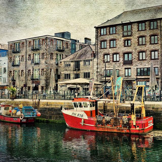 """Plymouth Harbour - Devon"" stock image"