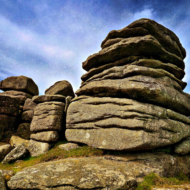 """Exmoor Rock Formations #2"" stock image"