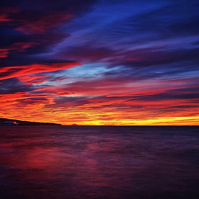 """Ayr Sunset"" stock image"