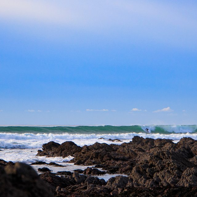 """""""Freshwater West Beach Surfer"""" stock image"""