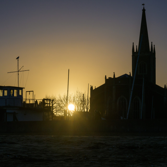 """Sunset At Old Harwich"" stock image"