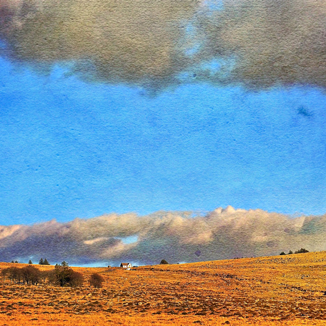 """""""Lone House On The Moor"""" stock image"""