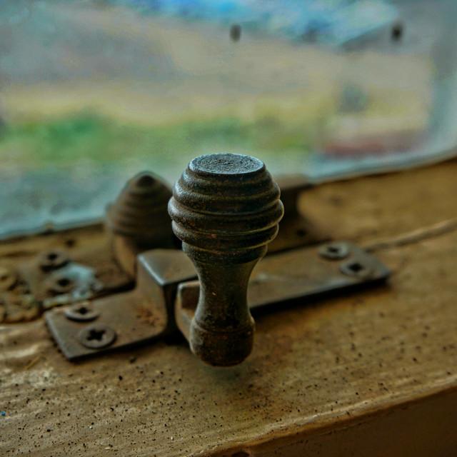 """Vintage Window Catch"" stock image"