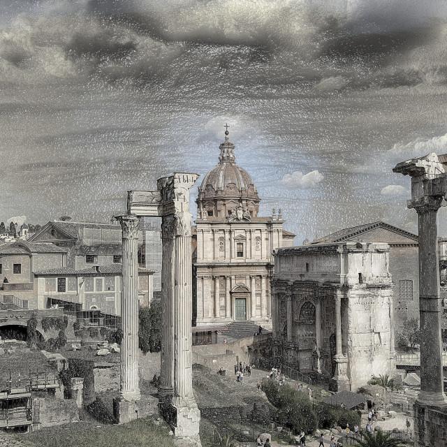 """The Roman Forum"" stock image"