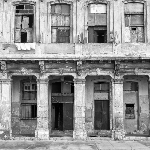 """Architectural detail in Havana, Cuba"" stock image"