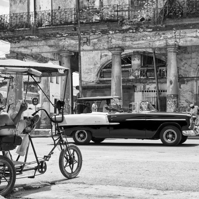 """Bicycle Taxi in Havana Cuba"" stock image"