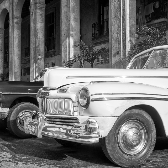 """Classic cars on the streets of Havana, Cuba"" stock image"