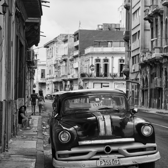 """Classic car on the streets of Havana, Cuba"" stock image"
