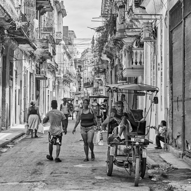"""People on the streets of Havana, Cuba"" stock image"