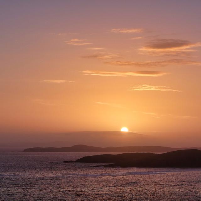 """Sunset At Burra, Shetland"" stock image"