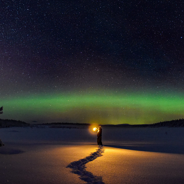 """Winter night"" stock image"
